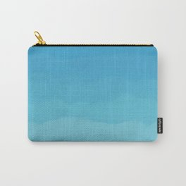 Powder Blue, Periwinkle Lacey Waves Carry-All Pouch