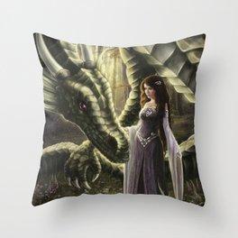 To Meet a Dragon Throw Pillow