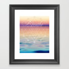 Breathe - Reminder Affirmation Mindful Quote Framed Art Print