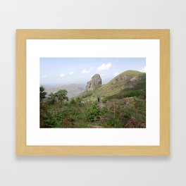 No Road to Nkuv Framed Art Print