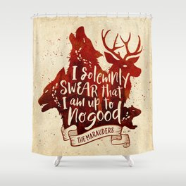 I solemnly swear Shower Curtain