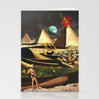 Stationery Cards featuring Once a Fertile Land by Eugenia Loli