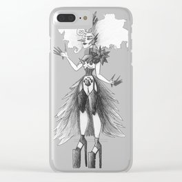 Black and White Queen Clear iPhone Case
