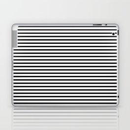 White Black Stripe Minimalist Laptop & iPad Skin