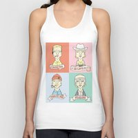wes anderson Tank Tops featuring Wes' Owens by Derek Eads
