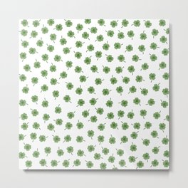 Light Green Clover Metal Print