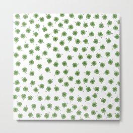 Light Green Clover Metal Print