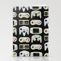 gamer Stationery Cards featuring Gamer Nostalgia by discojellyfish
