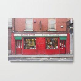 Music Instrument Store in Dublin Metal Print