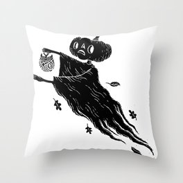 The Spectre of Autumn Throw Pillow