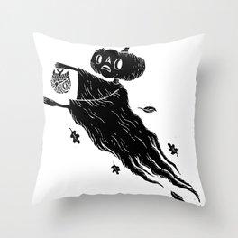 The Spectre of Autumn Throw Pillow