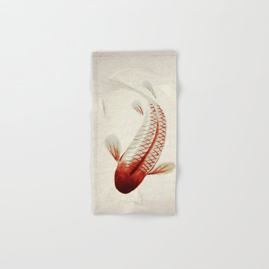 Red and Silver Koi Hand & Bath Towel