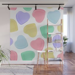 Candy Conversation Hearts Pattern Wall Mural