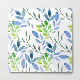 watercolor floral pattern Metal Print