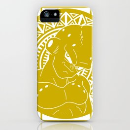 Stained Glass - Dragonball - Majin Buu iPhone Case