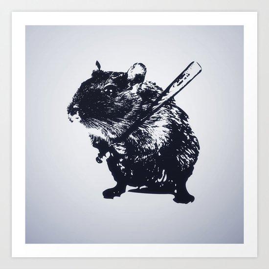 Angry mouse Art Print