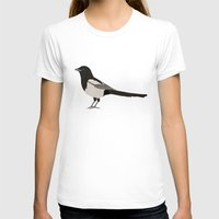 newspaper T-shirts featuring Newspaper Magpie by FENNIKEL