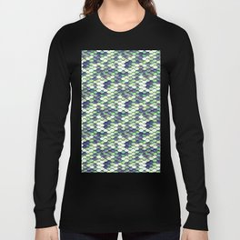 Green Mermaid Sclaes Long Sleeve T-shirt