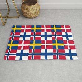 Flags of scandinavia2: finland, denmark,swede,norway Rug