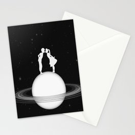Love on Saturn Stationery Cards