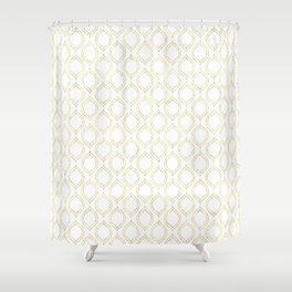 White And Gold Moroccan Chic Pattern Shower Curtain