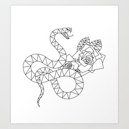 Slytherin' Down The Streets Art Print
