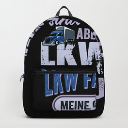 Funny gift idea for female truck drivers Backpack