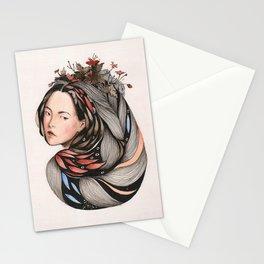 floral goddess Stationery Cards