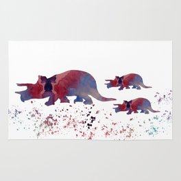 Triceratops (and triceratops babies) Rug