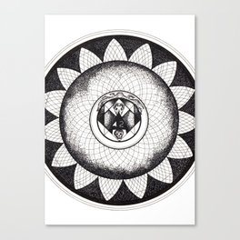 Mandala 42, The Answer To The Ultimate Question Of Life, The Universe, And Everything. Canvas Print