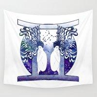 gemini Wall Tapestries featuring Gemini by Stevyn Llewellyn