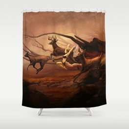Running Deers Shower Curtain