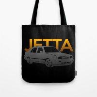 volkswagen Tote Bags featuring Volkswagen Jetta by Vehicle