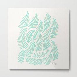 Fronds – Mint Green Palette Metal Print