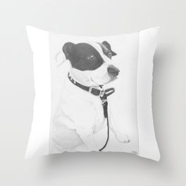 Jack Russell Crossbreed Throw Pillow