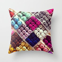 Yarn Display Throw Pillow