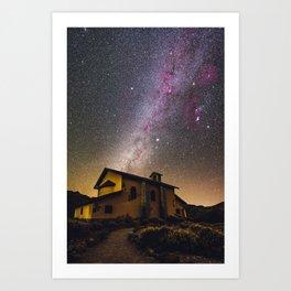 Milky Way at Ermita de las Nieves (Tenerife) Art Print