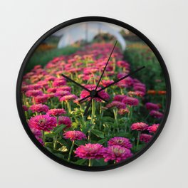 Flower Farm Wall Clock