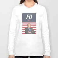 house of cards Long Sleeve T-shirts featuring House of Cards / Campaign Poster I by Earl of Grey