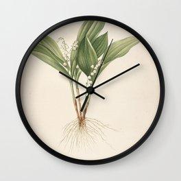 convallaria mayalis Redoute Roses 1 Wall Clock