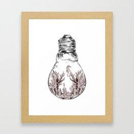 Aquarium Bulb Seahorse Framed Art Print