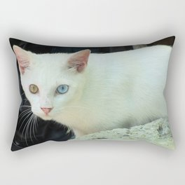Blue And Green Eyed Cat Rectangular Pillow