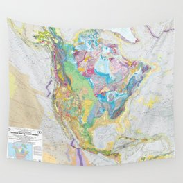 USGS Geological Map of North America Wall Tapestry