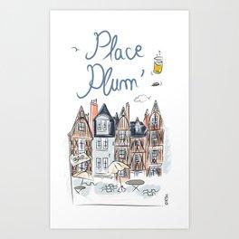 Place Plum'de Tours Art Print