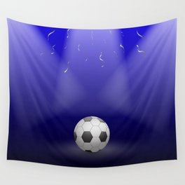 Celebration, Football in the spotlight Wall Tapestry