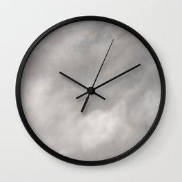 Gray Clouds Wall Clock