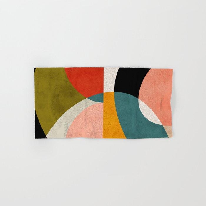 geometry shapes 3 Hand & Bath Towel