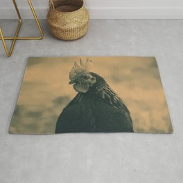 Rooster in Sepia Rug