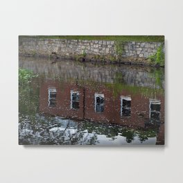 Mill Reflection Metal Print