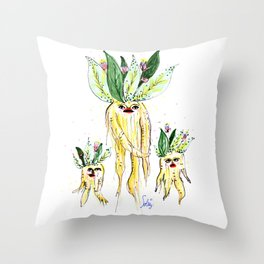 Roots - Mandrake - Mandragola Throw Pillow